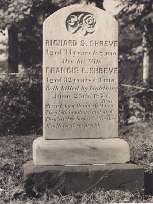 Shreve family gravestone