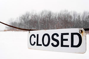 Closed Sign Slider