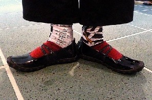 Puzzle socks for the Puzzle Festival