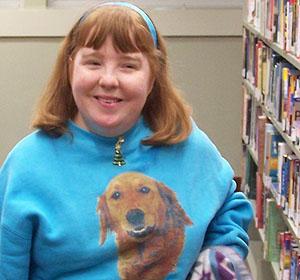 Melanie at Westover Library 12-12-2011