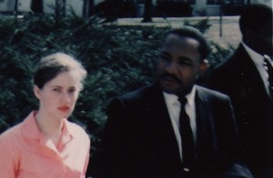 Joan Trumpauer Mulholland and Dr. Martin Luther King, Jr., Tougaloo College, 1961