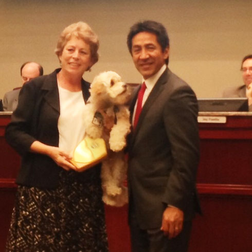Cynthia Power, Humphrey and J. Walter Tejada, Chairman of Arlington County Board