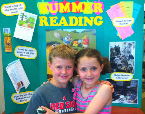 Jonah and Annabel raise money for Queens Library