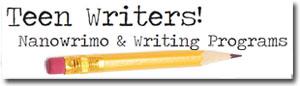 Teen Writers button