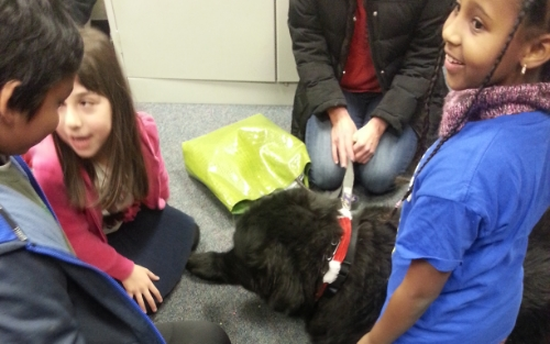Paws to Read holiday party