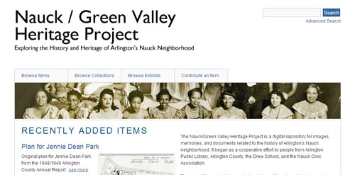 Nauck Green Vallery Heritage Project Banner