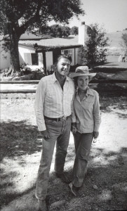 RONALD AND NANCY REAGAN AT SANTA BARBARA RANCH