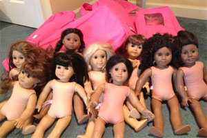 What Volunteers Do: Give American Girl Dolls a Bath