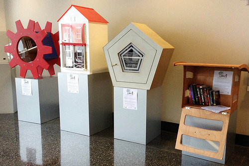 Little Free Libraries on display at CHP