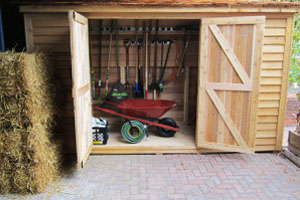 Need to Borrow a Garden Tool? The Shed is Open!