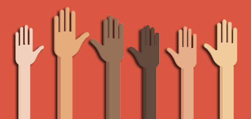 Women's history month hands